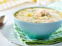 Zupa łososiowa z boczkiem