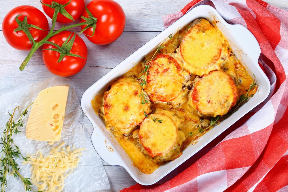 Zapiekanka z pieczonych pomidorów