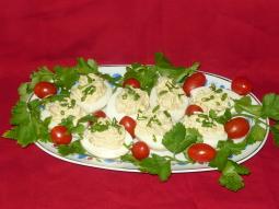Jajka faszerowane polędwicą z łososia